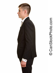 Profile view of young businessman