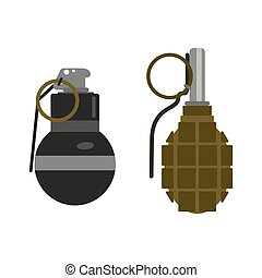 Grenade bomb vector. - Grenade explosive bomb military army...