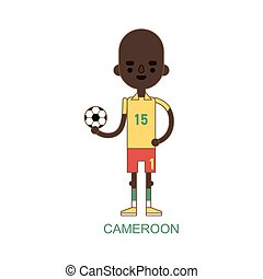 National cameroon soccer football player illustration