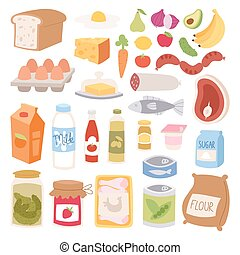 Everyday food vector illustration. - Everyday food icons...