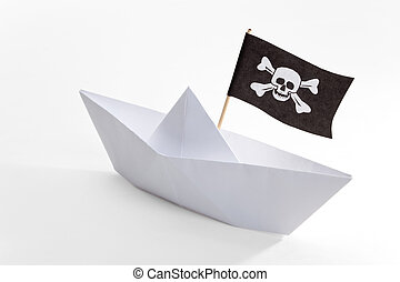 Pirate Ship with white background