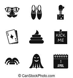 Jocularity icons set, simple style - Jocularity icons set....