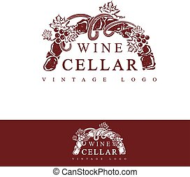 Wine Cellar Vintage Logo Design (in text used free font...