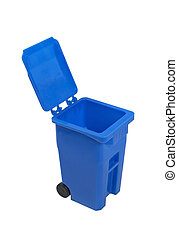 Recycle bin used to hold items to be reduced and reused to...