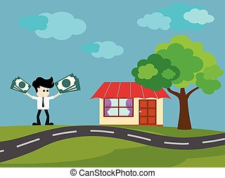 Businessman buy House
