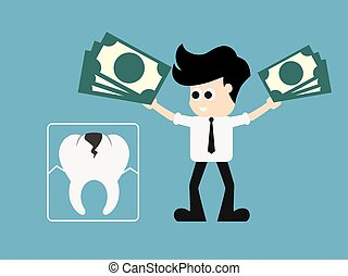 Toothache Oral Mouth Teeth Concept. Dental Insurance. vector...