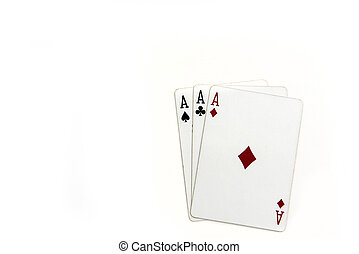Playing cards background - a collection of playing cards...
