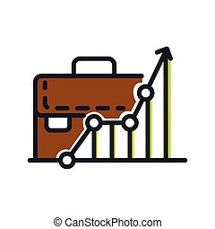 business growth icon color