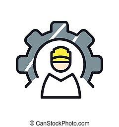production management icon color