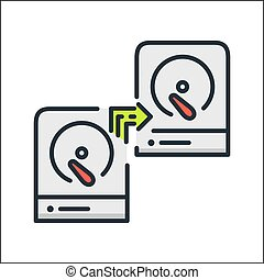 hdd backup system icon