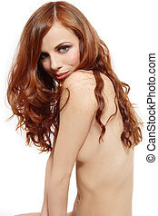 Purity - Beautiful slim young girl with gorgeous red hair...