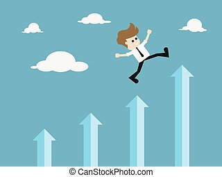 Success in business - self development. illustration. -...