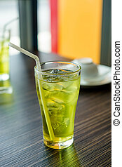 ice tea - glass of ice tea on ice tea
