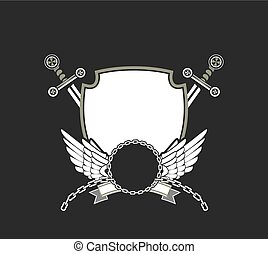 coat of arms vector - illustration of heraldic coat of arms...