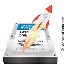 internal harddisk with a speed boost rocket