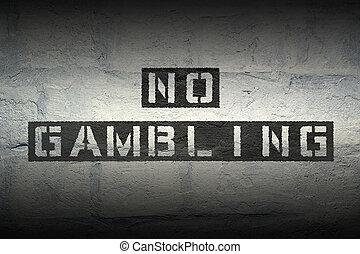 no gambling gr - no gambling exclamation stencil print on...