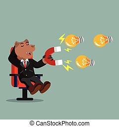 business bear magnet bulb