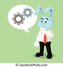 business bunny with gear callout