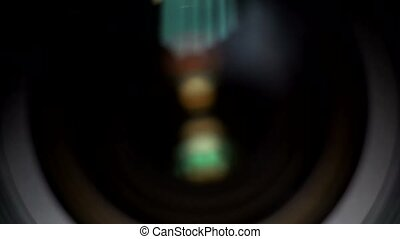Close-up of a photographic lens 4k