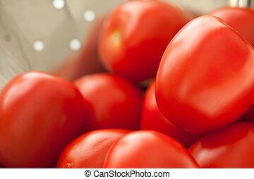 Fresh, Vibrant Roma Tomatoes