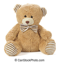 Stuffed Bear - Image of a stuffed bear isolated on white