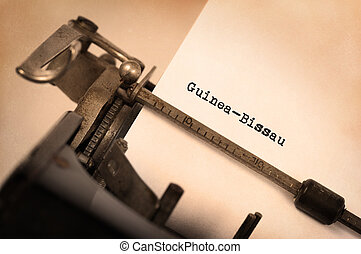Old typewriter - Guinea-Bissau - Inscription made by vinrage...