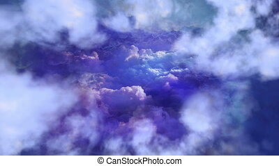 Flying In The Blue Sky Background