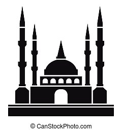 Mosque icon, simple style - Mosque icon. Simple illustration...