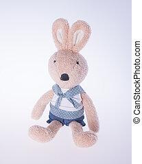 背景, 玩具,  bunny, 兔子, 或者