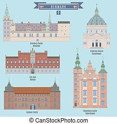 Famous Places in Denmark: Kronborg Castle - Helsingor, City...