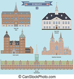 Famous Places in Denmark: Town Hall - Vejle, Town Hall -...
