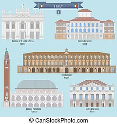 Famous Places in Italy: Basilica of St. John Lateran - Rome,...