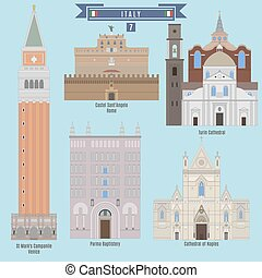 Famous Places in Italy: St Mark's Campanile - Venice, Castel...