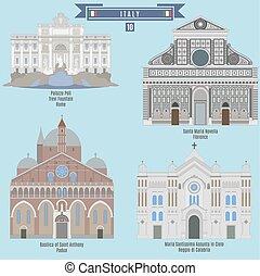 Famous Places in Italy: Palazzo Poli - Rome, Santa Maria...