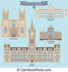 Famous Places in United Kingdom: Bristol Cathedral, Council...