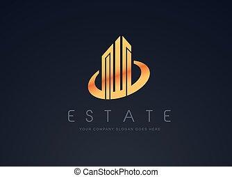 Real Estate Gold Design - Real Estate Gold Logo Design....
