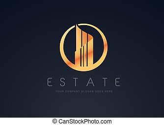 Real Estate Gold Design - Real Estate Gold Logo Design....