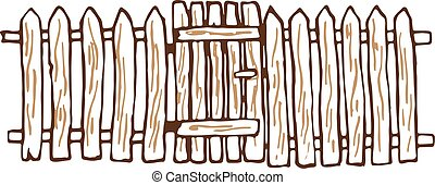 illustration vecteur de bois fait barri re illustration de les barri re csp17796721. Black Bedroom Furniture Sets. Home Design Ideas