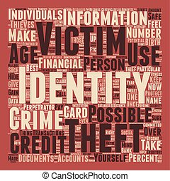 identity theft text background wordcloud concept