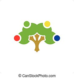 Abstract colorful fruit tree isolated on a white backgorund.