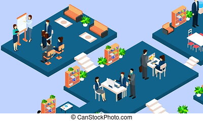 Business people video animation footage - Business people...