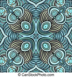 Abstract vector ethnic floral seamless pattern - Abstract...