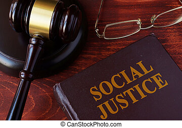 Book with title social justice