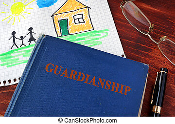 Book with title Guardianships and children's picture. (I am...