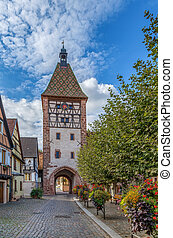 Upper Gate in Bergheim, Alsace, France - Upper Gate and...