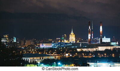 Timelapse view of historical building and moscow downtown...