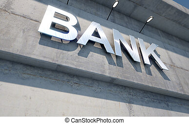 Modern Bank Building Signage - A 3D render of laser cut...