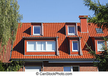 Dach, Dachfenster, Schornstein