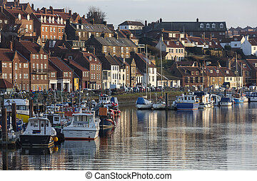 Whitby - North Yorkshire - United Kingdom - The inner harbor...