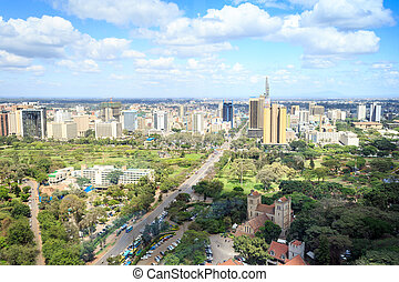 Nairobi cityscape - capital city of Kenya, East Africa